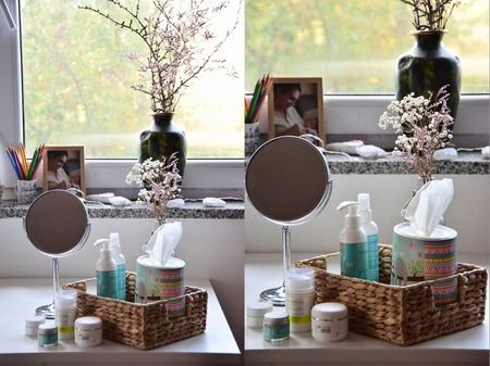 Winter face care morning routine